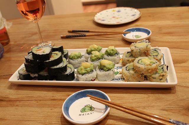 repas sushis maison