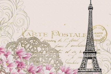 carte postale paris scrapbook