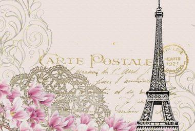 carte postale paris scrapbook