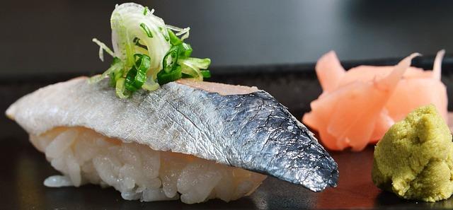 sushi wasabi gingembre